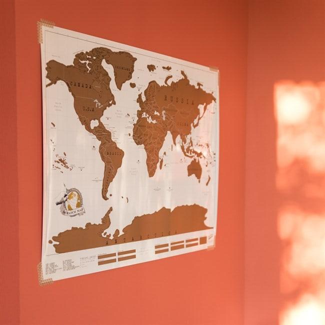 La Carte Du Monde A Gratter